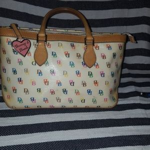 Dooney & Bourke multicolor signature letter purse